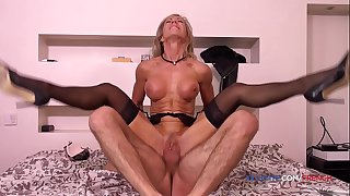 French hairy old MILF Marina..