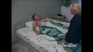 Blonde Mature Waking Stepson..