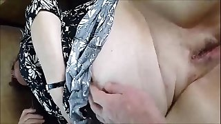 A Granny BBW's Shaved Pussy