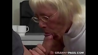 Granny Takes Huge Cock In..