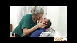 Grey hair old grandmother..