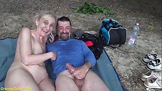 brutal outdoor sex for 85..
