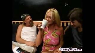 Chubby Blonde Granny Fucked..