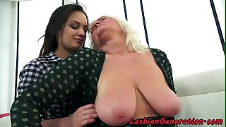 Lesbian grandma orally..