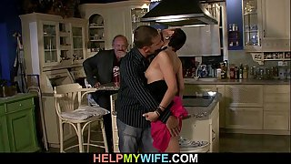 Bitchy wife is fucked on the..