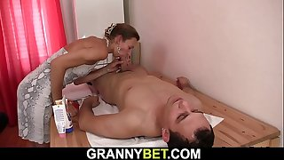 70 years old granny masseuse
