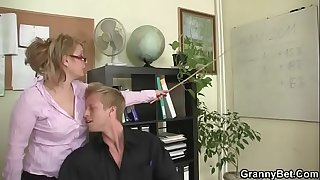 Mature office woman fucks..