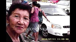 Amateur grandma sucking