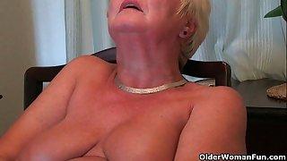 Busty and curvy grandma..
