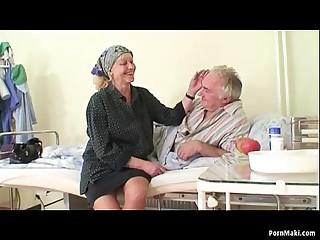 Granny watches grandpa fucks..