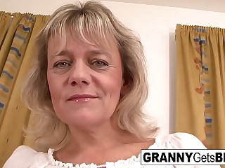 Blonde granny wants her..