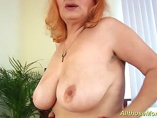 hairy redhead granny alone..