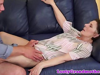 Chubby granny pounded in..
