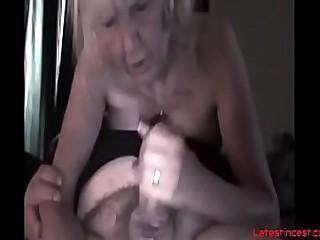 Nasty granny fucks own..