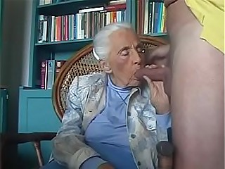 92-years old granny sucking..