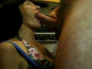 Granny gives me a blowjob in..