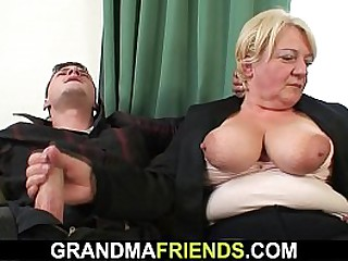 Drunk granny is picked up..