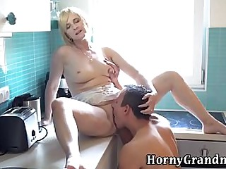 Granny gets fuck and cum