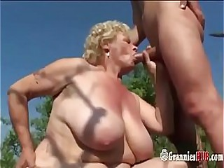 Chubby Granny Blonde With..