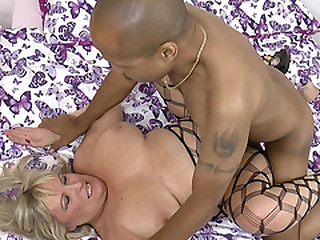 Old woman Alisha banged by a..
