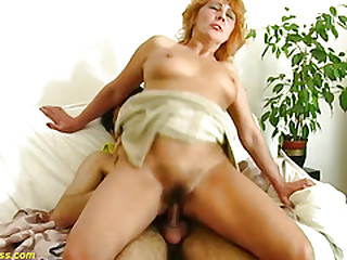 redhead hairy mom rough big..