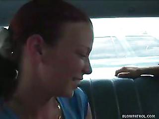 Redhead Sucks Cock For Ride..