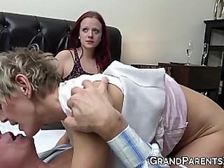 Granny shares husbands cock..