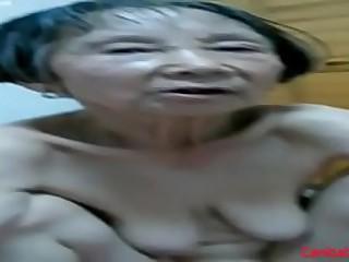 Amateur Asian Granny 80..