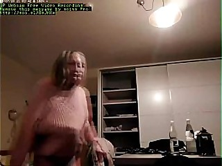 Granny caught changing on..