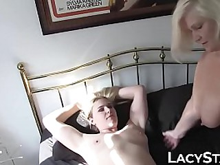 Busty minx eaten out by..