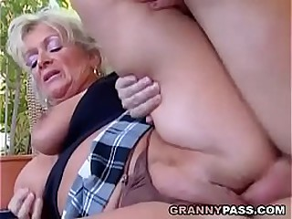 Busty Blonde Granny..