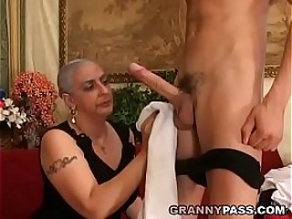 Granny Expereinces Anal With..