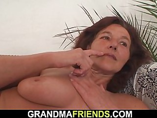 Teen boys bang nude granny
