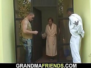 Interracial threesome sex..