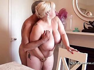 Busty granny fucked and..