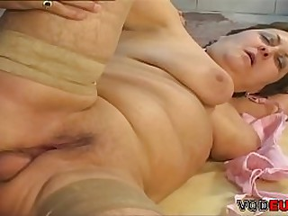 Fat grandmother seducing her..