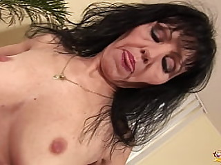 skinny saggy tit granny..