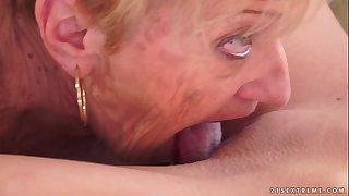 Kinky Granny licking Monique..