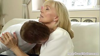 Cougar granny bent over and..