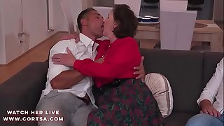 Granny Amelia in hot anal dp..